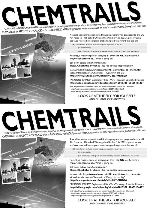 Chemtrails Look it up